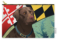 Maryland Chocolate Lab Carry-all Pouch