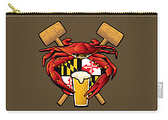 Maryland Crab Feast Crest Carry-all Pouch