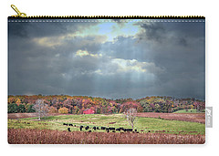 Maryland Farm With Autumn Colors And Approaching Storm Carry-all Pouch