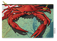Maryland Red Crab Carry-all Pouch