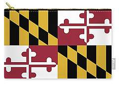 Maryland State Flag Carry-all Pouch by Robert Banach