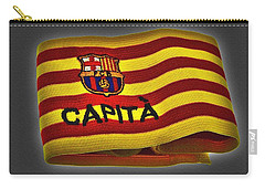 Carry-all Pouch featuring the photograph Mas Que Un Capitan - Carles Puyol by Juergen Weiss