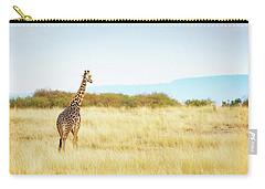 Masai Giraffe Walking In Kenya Africa Carry-all Pouch