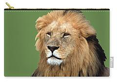 Masai Mara Lion Portrait    Carry-all Pouch by Aidan Moran