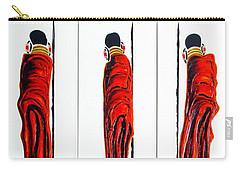 Masai Warrior Triptych - Original Artwork Carry-all Pouch