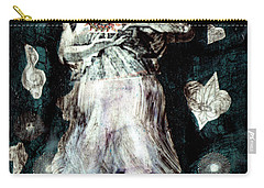 Carry-all Pouch featuring the painting Masked Angel Holding The Sun by Genevieve Esson