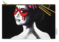 Masked In Red Carry-all Pouch