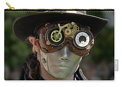 Masked Man - Steampunk Carry-all Pouch by Betty Denise
