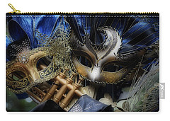 Carry-all Pouch featuring the photograph Masked Twins by Amanda Eberly-Kudamik