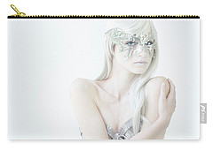 Masquerade In White Carry-all Pouch by Diane Diederich