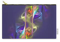 Carry-all Pouch featuring the digital art Masquerade - Prying Eyes by Giada Rossi