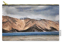 Massive Mountains And A Beautiful Lake Carry-all Pouch by Ashish Agarwal