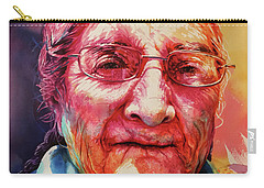 Carry-all Pouch featuring the painting Windows To The Soul by J- J- Espinoza