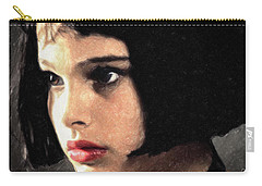 Carry-all Pouch featuring the painting Mathilda by Taylan Apukovska