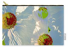 Carry-all Pouch featuring the photograph Matilija Poppies Pop Art by Ben and Raisa Gertsberg