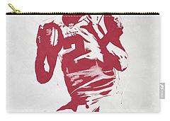 Matt Ryan Atlanta Falcons Pixel Art 2 Carry-all Pouch by Joe Hamilton