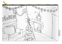 Carry-all Pouch featuring the drawing Matthews Christmas by Artists With Autism Inc