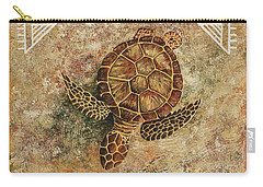 Carry-all Pouch featuring the painting Maui Honu by Darice Machel McGuire