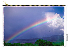 Carry-all Pouch featuring the photograph Maui Rainbow by Marie Hicks