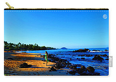 Carry-all Pouch featuring the photograph Maui Sunrise On The Beach by Michael Rucker