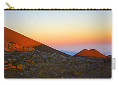 Mauna Kea Sunset With Full Moon Volcanoes National Park Hawaii Carry-all Pouch