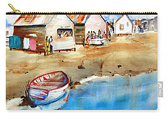Mauricio's Village - Beach Huts Carry-all Pouch by Carlin Blahnik