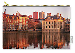 Carry-all Pouch featuring the photograph Mauritshuis And Hofvijver At Golden Hour - The Hague by Barry O Carroll