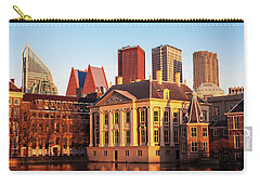 Carry-all Pouch featuring the photograph Mauritshuis At Golden Hour - The Hague by Barry O Carroll