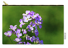 Carry-all Pouch featuring the photograph Mauve Flowers  by Lyle Crump