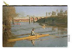 Max Schmitt In A Single Scull Carry-all Pouch by Thomas Cowperthwait Eakins