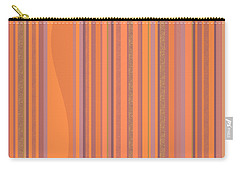 May Morning Vertical Stripes Carry-all Pouch by Val Arie