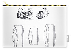 Maya Cat Head And Stone Tools Carry-all Pouch