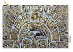 Carry-all Pouch featuring the painting Mayan Warrior by J- J- Espinoza