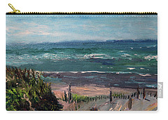 Mayflower Beach Carry-all Pouch by Michael Helfen