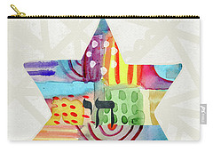 Mazel Tov Colorful Star- Art By Linda Woods Carry-all Pouch
