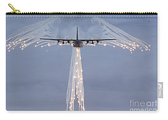 Mc-130h Combat Talon Dropping Flares Carry-all Pouch