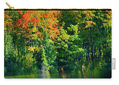 Carry-all Pouch featuring the photograph Mccarston's Lake by Gary Hall