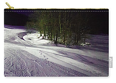 Carry-all Pouch featuring the photograph Mccauley Evening Snowscape by David Patterson