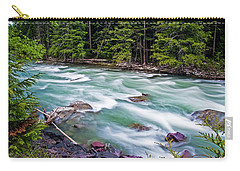 Carry-all Pouch featuring the photograph Mcdonald Creek by Gary Lengyel