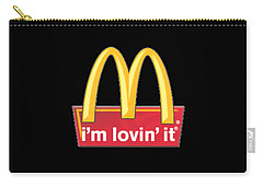 Mc Donalds T-shirt Carry-all Pouch by Herb Strobino
