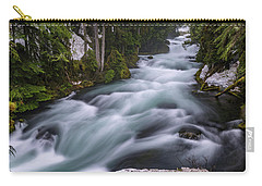 Carry-all Pouch featuring the photograph Mckenzie River by Cat Connor