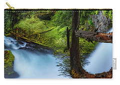 Carry-all Pouch featuring the photograph Mckenzie River From Sahalie Falls by Cat Connor