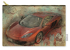 Carry-all Pouch featuring the photograph Mclaren Graffiti by Joel Witmeyer