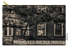 Carry-all Pouch featuring the photograph Mcsorley's Old Ale House Nyc Bw by Susan Candelario