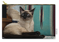 Me And My Chair Carry-all Pouch by Karen Slagle