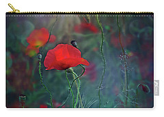 Meadow In Another Dimension Carry-all Pouch by Agnieszka Mlicka