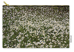 Carry-all Pouch featuring the photograph Meadow Of Daisey Wildflowers Panorama by James BO Insogna