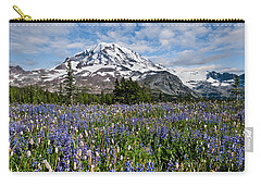 Meadow Of Lupine Near Mount Rainier Carry-all Pouch