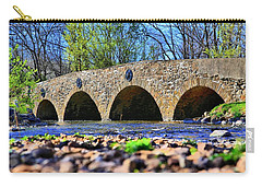 Carry-all Pouch featuring the photograph Meadows Road Bridge by DJ Florek