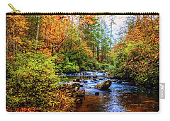 Carry-all Pouch featuring the photograph Meandering In The Mountains by Debra and Dave Vanderlaan